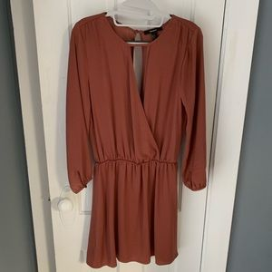 Forever 21 satin brown dress - size M